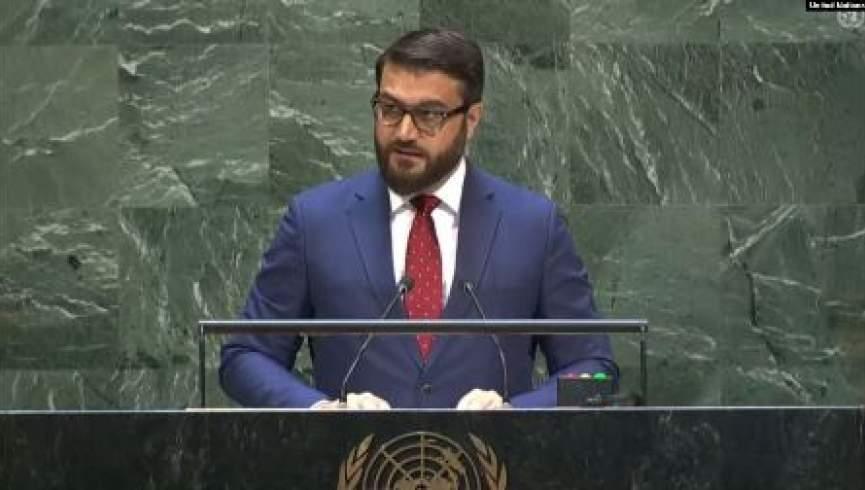 حمدالله محب  - تهديد حركة طالبان وحماتها الأجانب من قبل حمدالله محب في الأمم المتحدة
