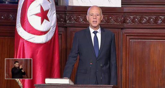 سعيد 550x295 - رئيسا لتونس.. قيس سعيد يؤدي اليمين الدستورية أمام البرلمان