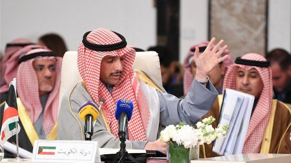 110828409 gettyimages 1199523410 - حملة سعودية على الغانم بعد رميه أوراق خطة السلام الأميركية بسلة المهملات