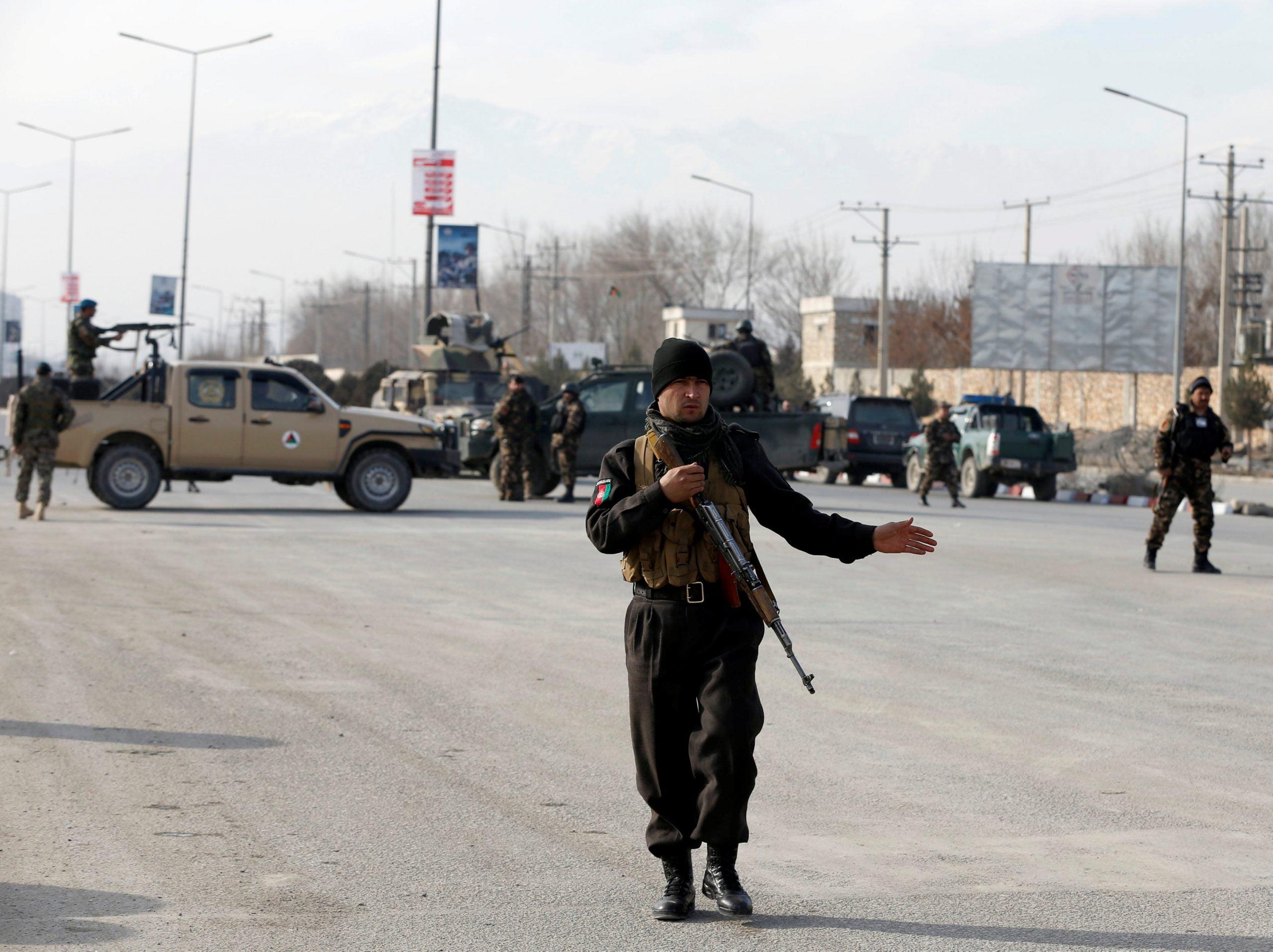 2017 12 18T111901Z 335244741 RC12C84C8D30 RTRMADP 3 AFGHANISTAN ATTACK scaled - الهجوم الدموي على مركز للقوات الخاصة في كابول أدى إلى مقتل 3 أشخاص
