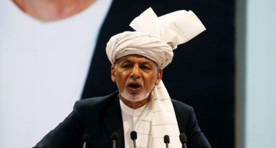 غنی 2 550x295 - تغيير الرئيس غني موقفه بالنسبة إلى طالبان من الدفاع إلى الهجوم