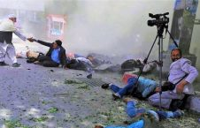 Twin explosions killed at least 20 people, including journalists and wounded 70 others late Wednesday in capital Kabul.