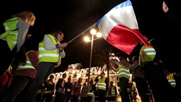 104375668 mediaitem104375667 - French fuel protests against Macron over rising prices