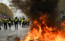 25112018 yellow vest protesters 226x145 - France Fuel Protests: Police Fire Tear Gas at 'Yellow Vest' Protesters
