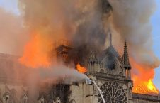 The Heart of Paris Burnt in Fire