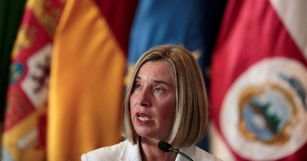 AABhN2X - EU Keeps Iran's Back, May Talk to US's Pompeo in Brussel- Mogherini