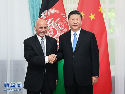 W020190617377150567771 - Chaina's Xi Meets with his Afghan Counterpart Ghani