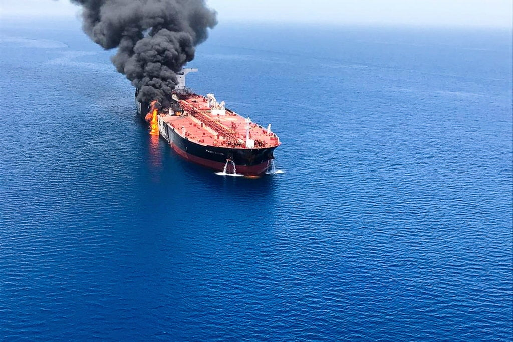 merlin 156387744 216c0889 171b 439e 857a 359799b21e15 jumbo - U.S. Puts Iran on Notice and Weighs Response to Attack on Oil Tankers