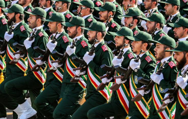 iran revolutionary guards parade - Iran Revolutionary Guard Strikes Terrorist Groups in Northern Iraq