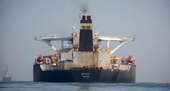 iraniantankergrace11800.jpeg 550x295 - Gibraltar Releases Iran Supertanker That US Sought to Seize