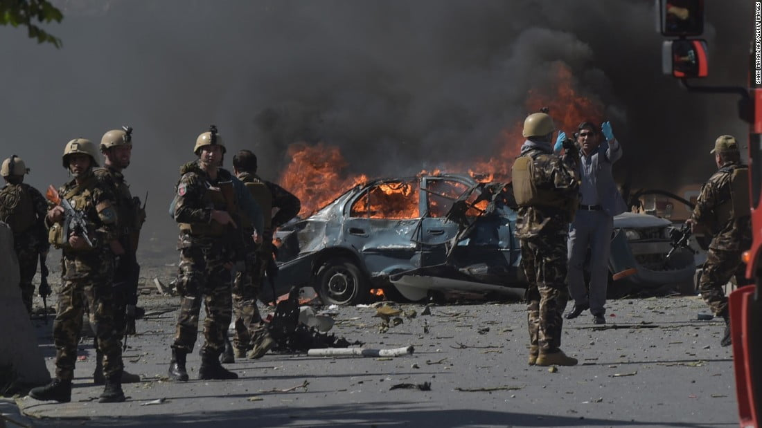 170531093938 03 kabul bomb attack 0531 super 169 - Bomb Kills Three Police, Injures 36 Children In East Afghanistan