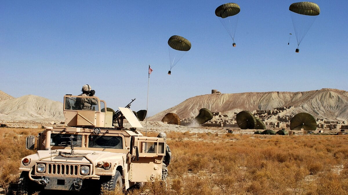 74CQUWAOHVFFDHQ5N5YJ6ZU72U - US Pulls Troops out of Syria and Afghanistan, but the Tonnage of Airdropped Supplies is Spiking