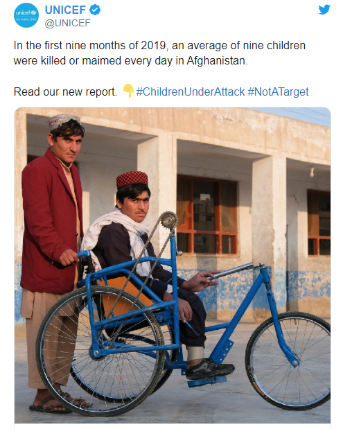 565 - UNICEF: Nine Children Killed or Maimed in Afghanistan Every day