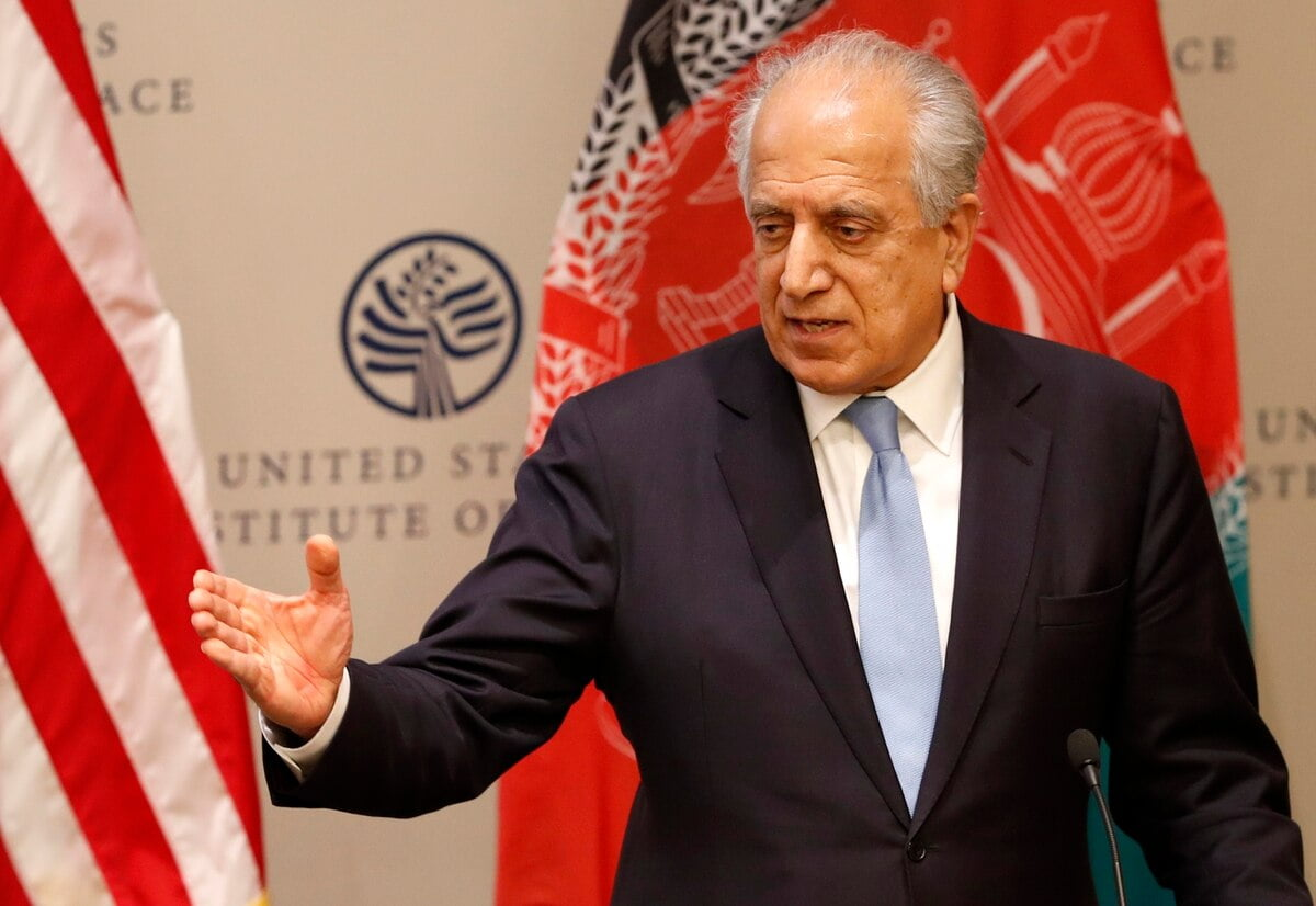XMTPN6IAONFLZMO3ZKPRJHD57Y - US Peace Envoy to Afghanistan Opens First Round of Resurrected Talks with Taliban