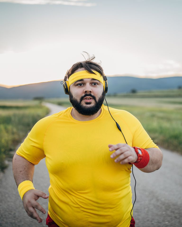 large man jogging on the street in sunset royalty free image 1578521590 - How to Tighten Loose Skin After Weight Loss
