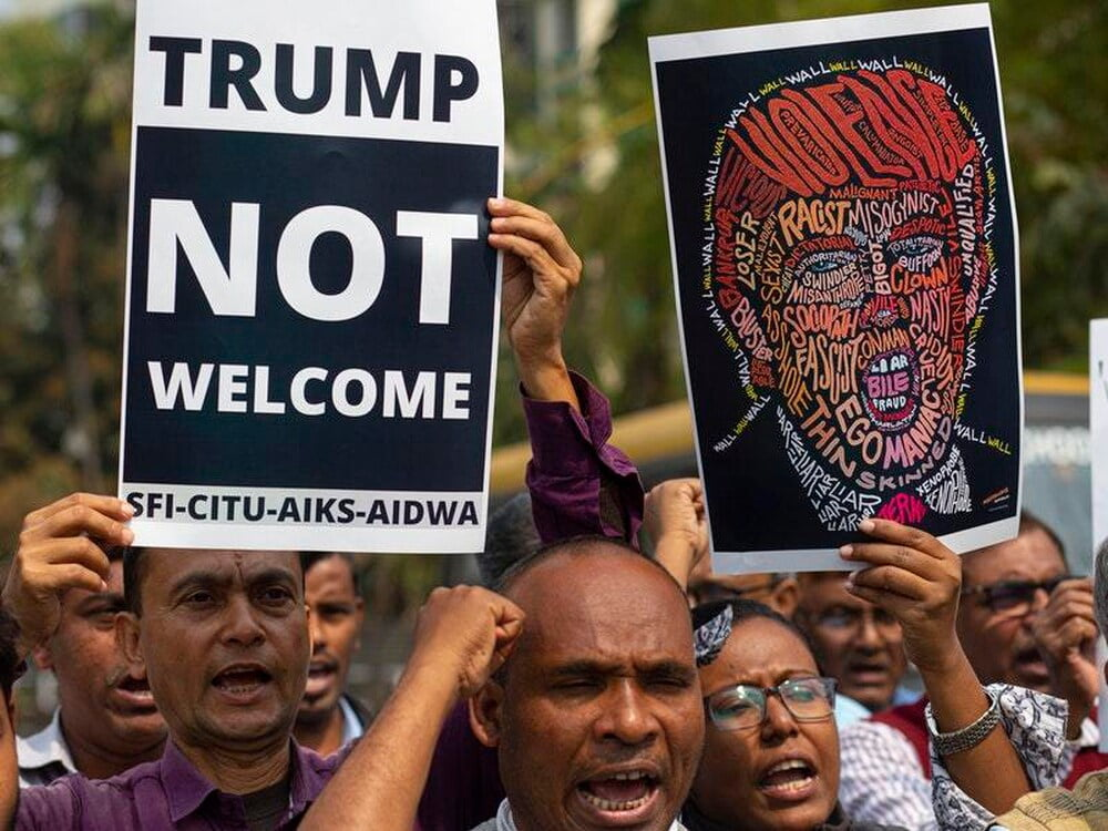 B5B3NPC3QVFIVLHPB24R4F6SG4 - Trump's Second Day Presence in India, Violence Erupts, 7 Killed in Dehli