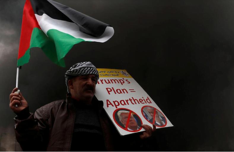 Capture - Trump's Peace Plan Considered As Apartheid by Former European Leaders