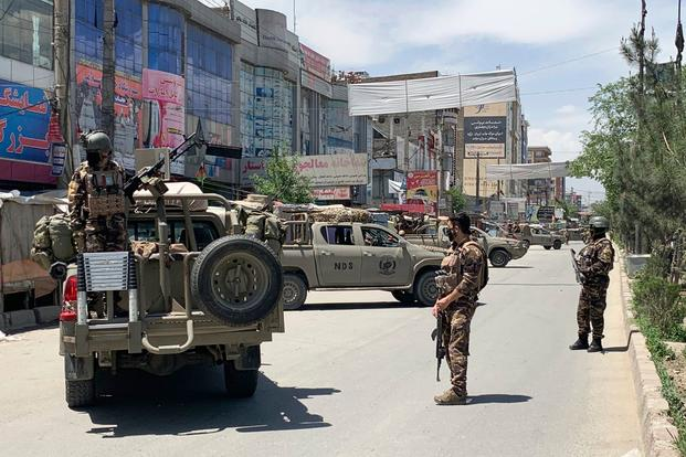 afghan security personnel 1800.jpeg - US To Reduce 8600 Troops By July 15 From Afghanistan Despite Turmoil