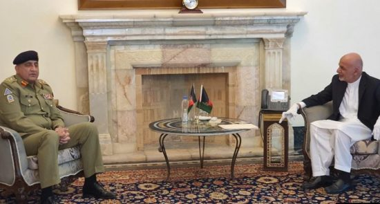D3650F67 2BD7 4DC6 AEFD E105530F508F w1023 r1 s 550x295 - Pakistani Army Chief in Kabul to Discuss Peace Process with Afghan Top Authorities