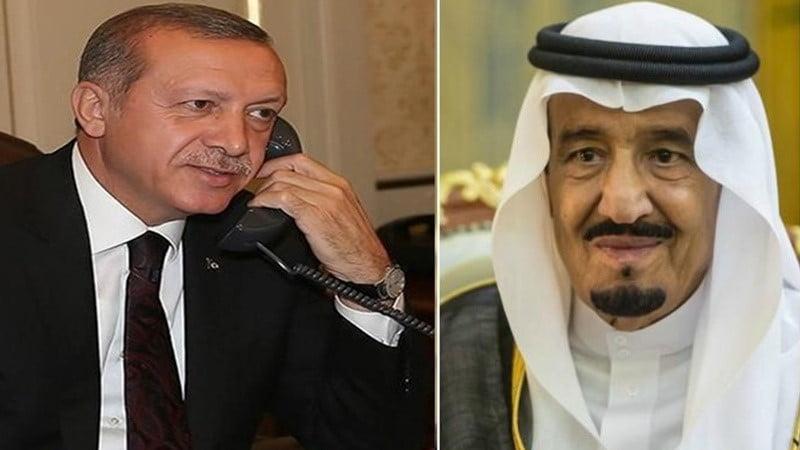 اردوغان او ملک سلمان د خاشقجي د دوسیې په هکله ټیلیفوني خبرې