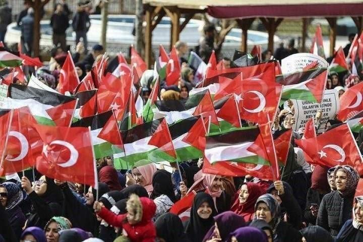 ترکیه خلګ د اشغالی قدس څخه دملاتړ لپاره پراخ لاریون