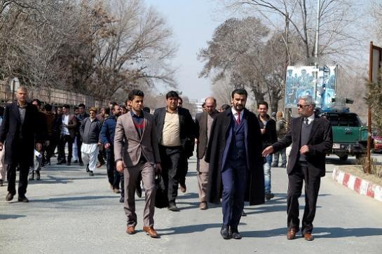 په کابل کی د دولتي پوهنتونونود استادانو لاریون