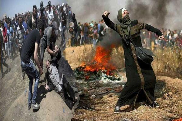 د ستنیدو د حق په لاریون کی بیا ۶۰ فلسطینیان زخمي شول