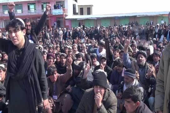 د داعش ډلګی خلاف لاریون