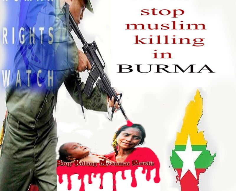 د میانمار پوځیانو شپږ مسلمانان ووژل