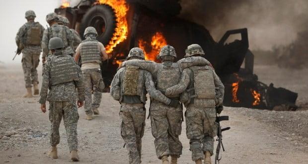 له افغانستان څخه په زړونوآمریکایی عسکرودوتلوپه کتار