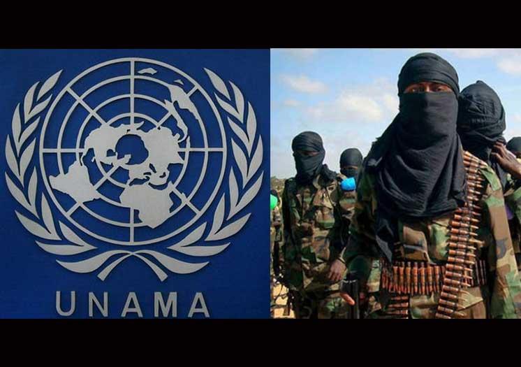 په افغانستان کی دترهګروسره د یوناما د وسلواواستخباراتی مرستی