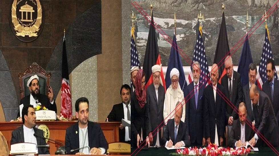د کابل واشنګټن د امنیتی تړون پرلغوه کولو ټینګار