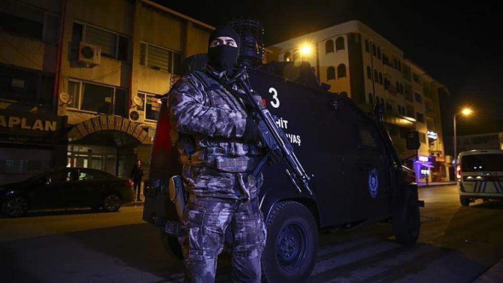 په ترکیی د داعش په اړوند دلس ها وکسانو نیول