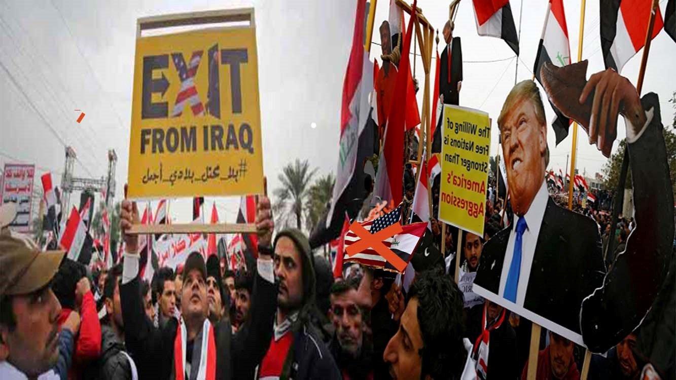 په عراق کی دامریکاپرضدد خلکوستری مظاهرې