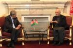 احمدزی 150x100 - دیدار رئیس جمهور احمدزی با وزیر خارجه ایتالیا