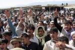 تظاهرات1 150x100 - مظاهره شماری از اعضای خانواده های سربازان اسیر شده در فاریاب