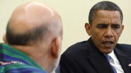 حامد کرزی با اوباما