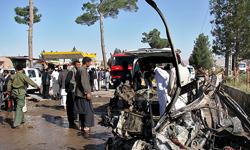 حمله انتحاری خونین در افغانستان - وقوع یک حمله انتحاری در شاهراه کابل ـ پروان