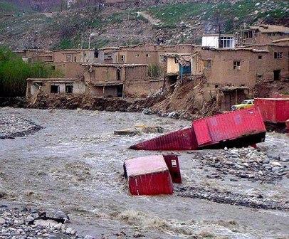 سرازیرشدن سیلاب ها