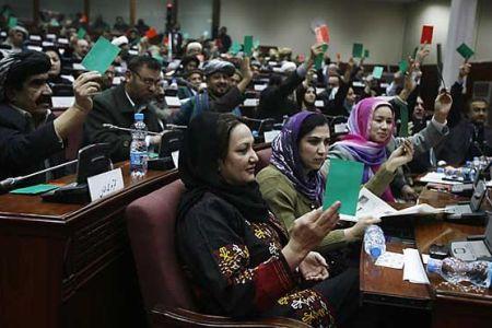 مجلس افغانستان - استقبال مشرانو جرگه از اقدام اخیر رییس جمهور احمدزی