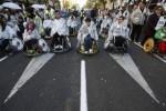 مظاهره هزاران معلول اسپانیایی