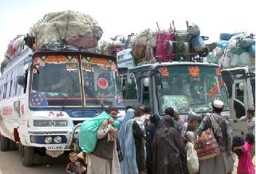 مهاجرت - مهاجرت 75 هزار تن از وزیرستان به افغانستان
