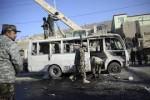 موتر 2 150x100 - حمله انتحاری بالای موتر کاستر نیروهای اردوی ملی در شهر مزارشریف
