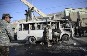 موتر 2 - حمله انتحاری بالای موتر کاستر نیروهای اردوی ملی در شهر مزارشریف