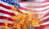 پرچم آمریکا - به آتش کشیده شدن پرچم آمریکا در کابل