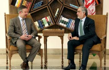 جرمنی - دیدار رئیس اجرائیه کشورمان با سفیر جرمنی