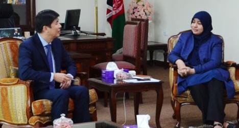 هانک - دیدارغزال حبیب یار با معاون بانک انکشاف آسیای