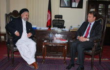 دیدار عالمی بلخی با سفیر کشور هالند در افغانستان
