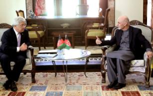 غنی 3 - دیدار اشرف غنی با وزیر خارجه قزاقستان