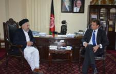دیدار عالمی بلخی با سفیر کشور هالند در کابل
